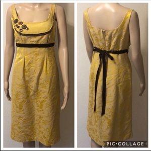 Anthro Parameter Golden Tapestry Dress
